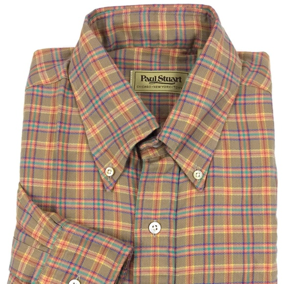 Paul Stuart Other - Paul Stuart Button Down Shirt Large Plaid Check L